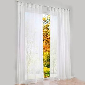 Amazon.com: 1pcs Sheer Curtain Tab Top Windows Curtains Panel For ...