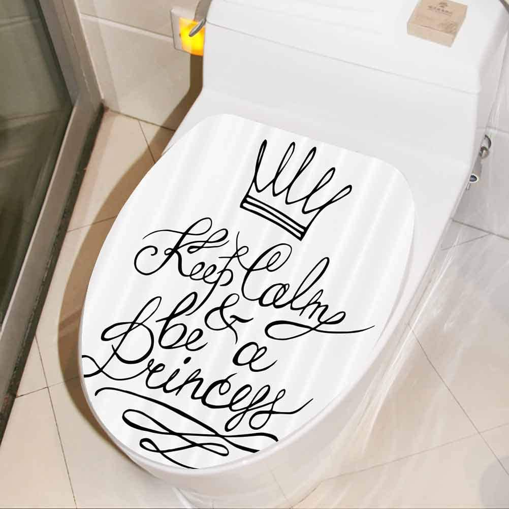 Funny Art Mural Be A Princess Romance Removable Waterproof Toilet Seat Wall Stickers For House Decoration W13xh16 Inch Amazon Com