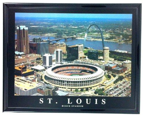 Framed Baseball St. Louis Aerial Stadium Prints Old Busch Stadium F7549A