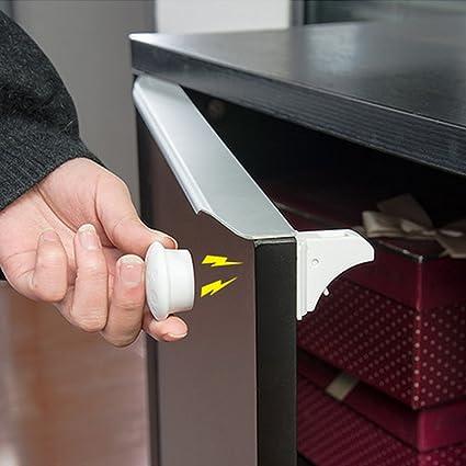Bloqueo de Seguridad, LOMATEE invisible Cierre Magnético de Seguridad para Bebé y Niños , el de Armarios Estantes o Cajones Control Electrónico 4 ...