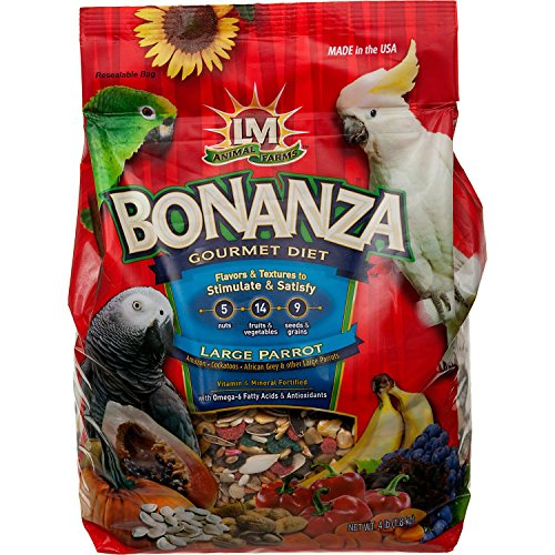 LM Animal Farms Bonanza Gourmet Diet Large Parrot Bird Food (4 lbs) by L & M Animal (Image #1)