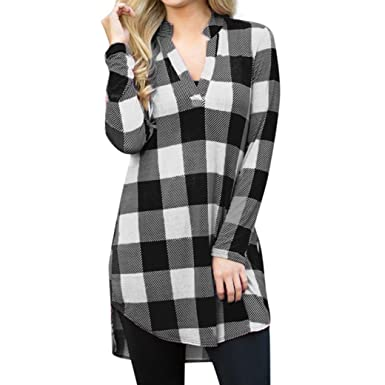 55537f89ed1c Anglewolf Fashion Womens Long Shirts