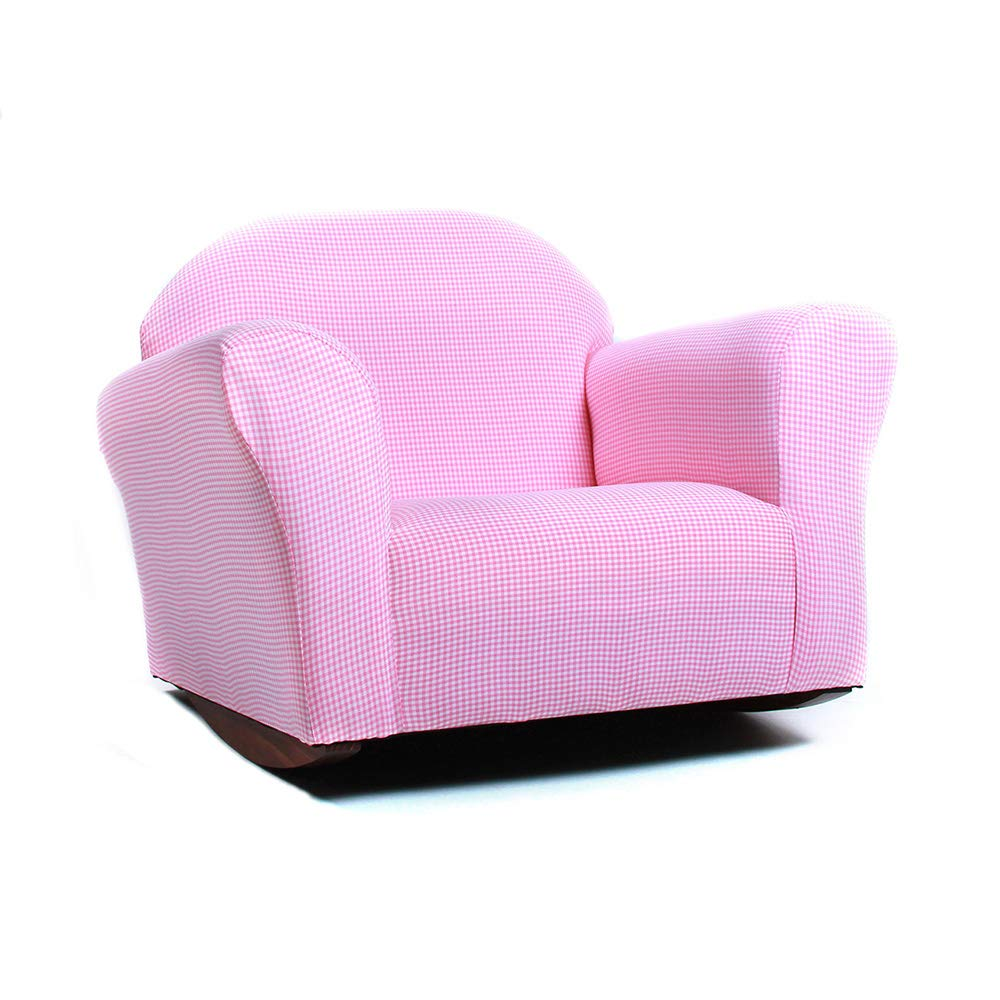 KEET Roundy Rocking Kid's Chair Gingham, Pink by Keet