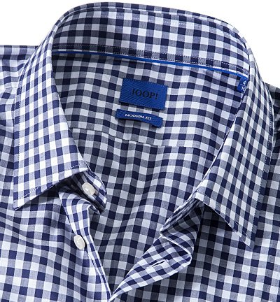 JOOP! Herren Hemd Baumwolle Oberhemd Kariert, Größe: 39, Farbe: Blau ...