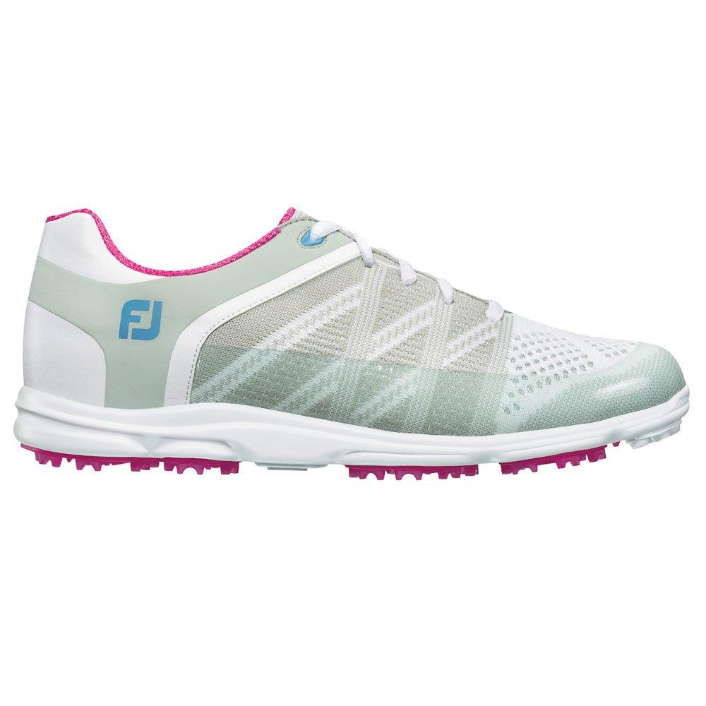 FootJoy Women's FJ Sport SL Golf Shoes 98027 - White/Light Grey/Berry - 9 - Wide