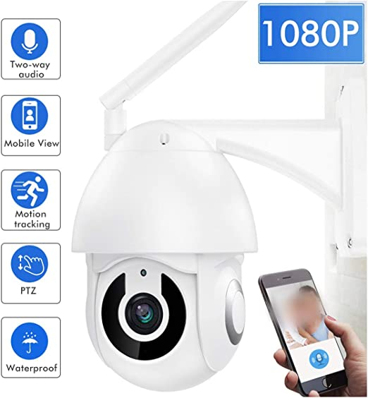 1080P WIFi CCTV Camera Outdoor PTZ IP Speed Dome Home Surveilance Two-way Audio