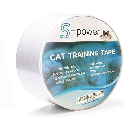 S-Power Cinta Adhesiva de Doble Cara para Entrenamiento de Gatos, fácil de Limpiar, Cinta Adhesiva ...