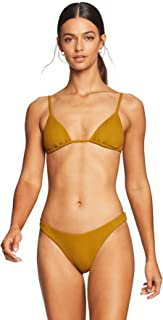 product image for Vitamin A Women's Matcha Variegated Ecorib Sol Sliding Triangle Bikini Top