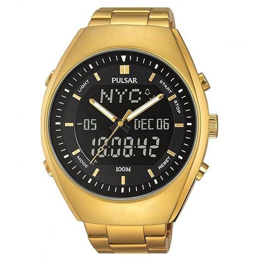 Pulsar PZ4012X1 - Reloj de Pulsera Hombre, Acero Inoxidable, Color Oro: Amazon.es: Relojes