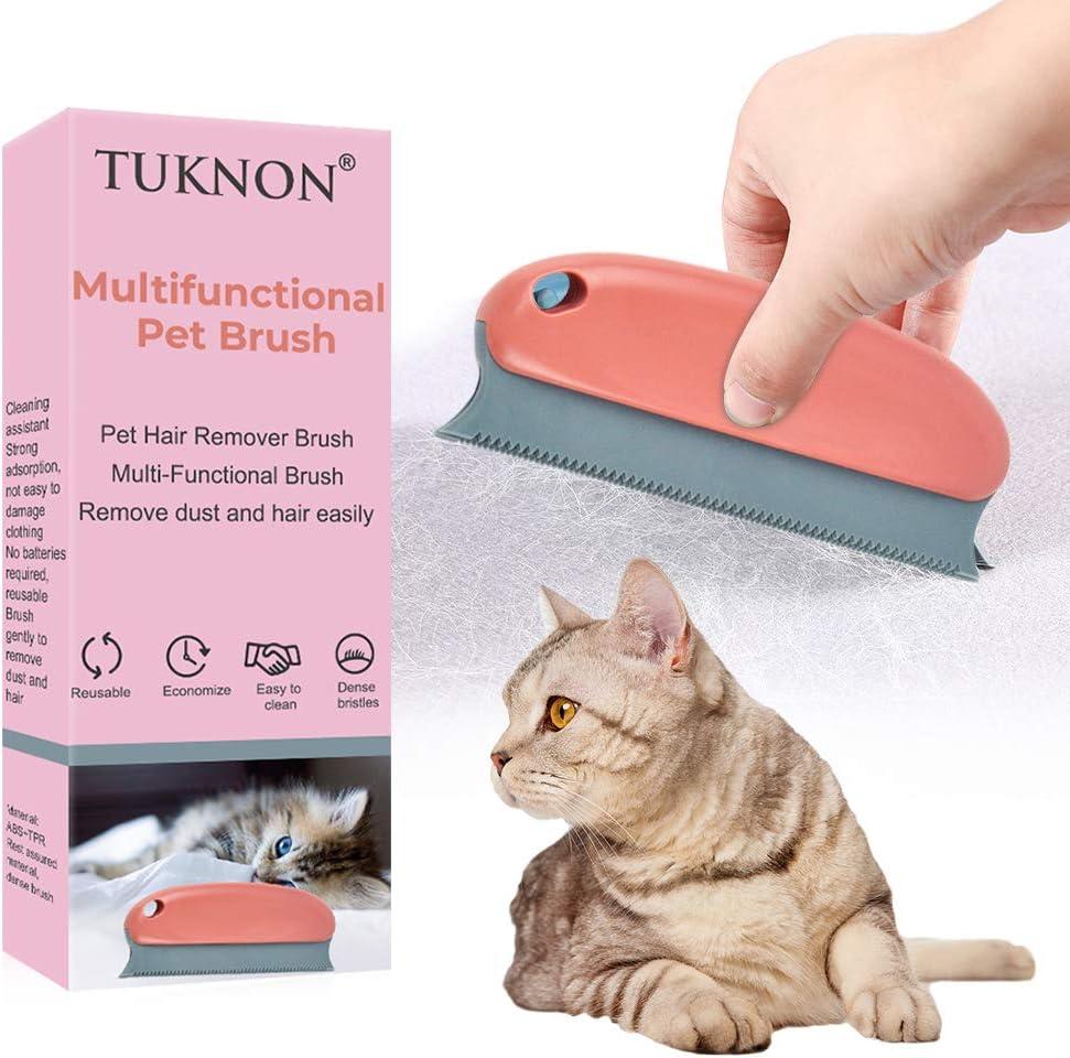 TUKNON Quitapelos para Mascotas, Pet Hair Remover, Limpiador de Pelo de Mascotas, Cepillo Reutilizable Lavable del removedor del Pelo del Animal doméstico para el sofá de la Ropa de la Alfombra