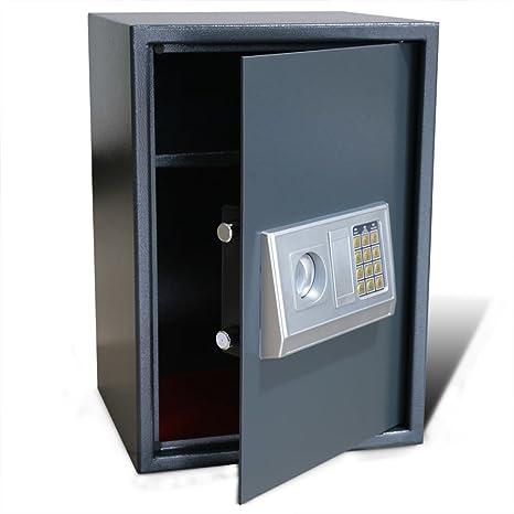 vidaXL Caja Fuerte Electrónica Digital Seguridad Hogar Oficina Con Estante 35X31X50 cm