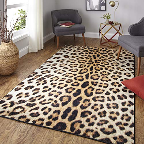 Mohawk Home Z0341 A440 060096 EC Prismatic Neutral Cheetah Spots Printed Contemporary Kids Area Rug, ()
