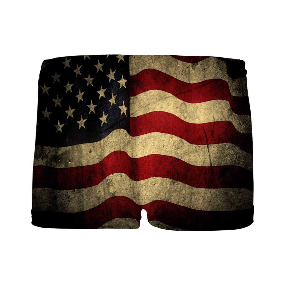 5T-2XL INTERESTPRINT Kids USA Flag Comfortable Breathable Briefs