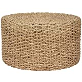 Cheap Modern & Contemporary Wood Handmade Grass Knotwork Coffee Table/Ottoman (Off – White)
