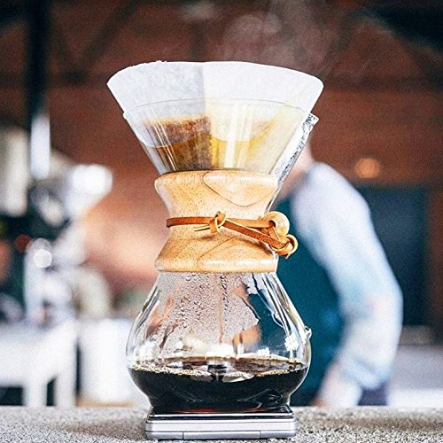 Chemex Bundle - 2 Items: Glass Handle Coffeemaker and FC-100 Pre-Folded Circle Filters (6-Cup) by Chemex