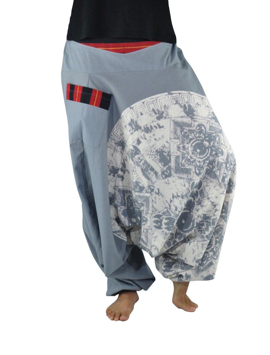 83f99f85b013c virblatt taglia unica pantaloni alla turca donna e pantaloni cavallo basso  uomo con stampe e motivi ingrandisci