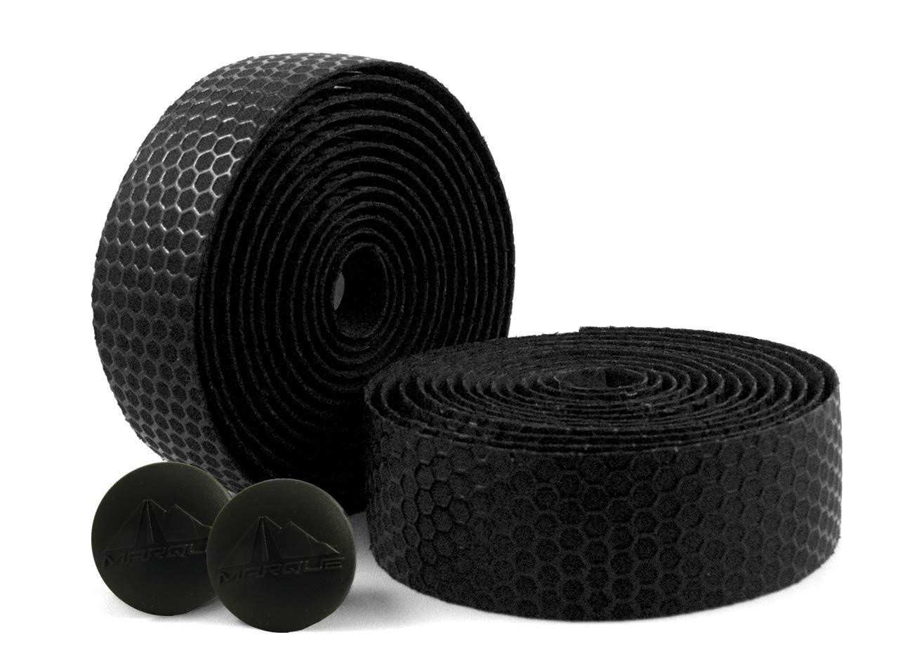 MARQUE Hex Grip Bar Tape - Road Bike Handlebar Tape 2PCS per Set (Black) by MARQUE