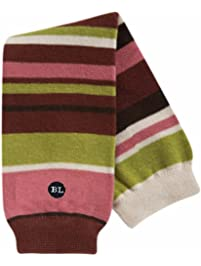 BabyLegs Marzipan-Organic Leg Warmers, Burgundy/Pink/Green Stripe, One Size Fits Most; Up Till 10 Years Old