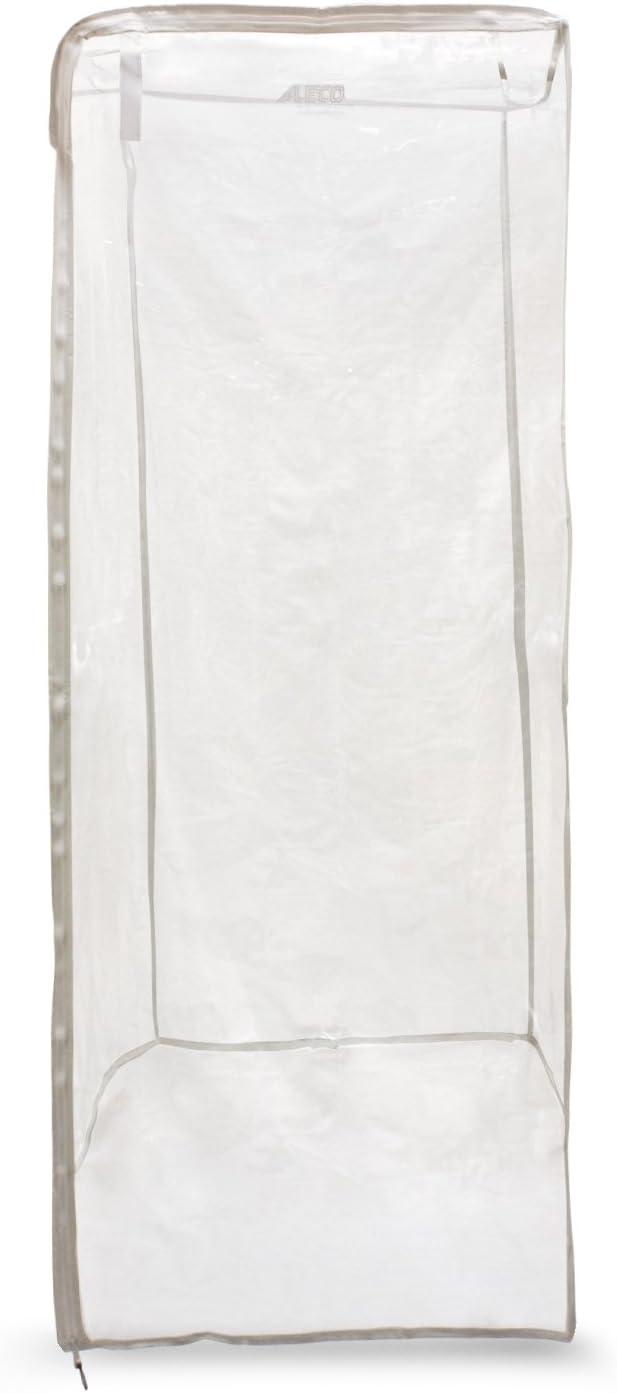 Aleco 477404 PVC Super Economy One-Zip Pan Rack Cover, 64