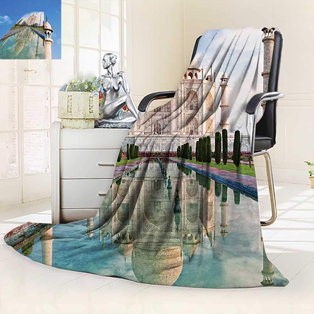 vanfan Blanket Comfort Warmth Soft Collection Taj Mahal in Sunrise Light Agra India History Love Story Emperor Landscape,Silky Soft,Anti-Static,2 Ply Thick Blanket. (50''x30'')