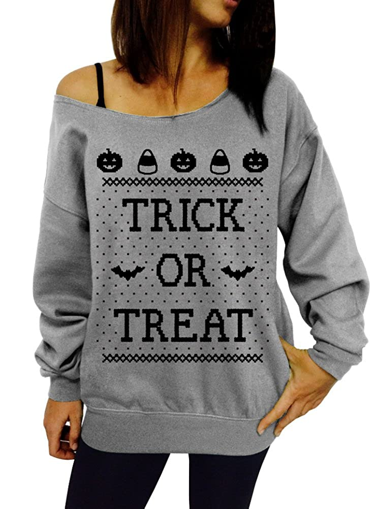 Dentz Design Trick or Treat Slouchy Sweatshirt