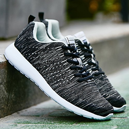 AFFINEST Mens Womens Fashion Sneakers athletische Outdoor-Sport-Wanderschuhe Schwarz