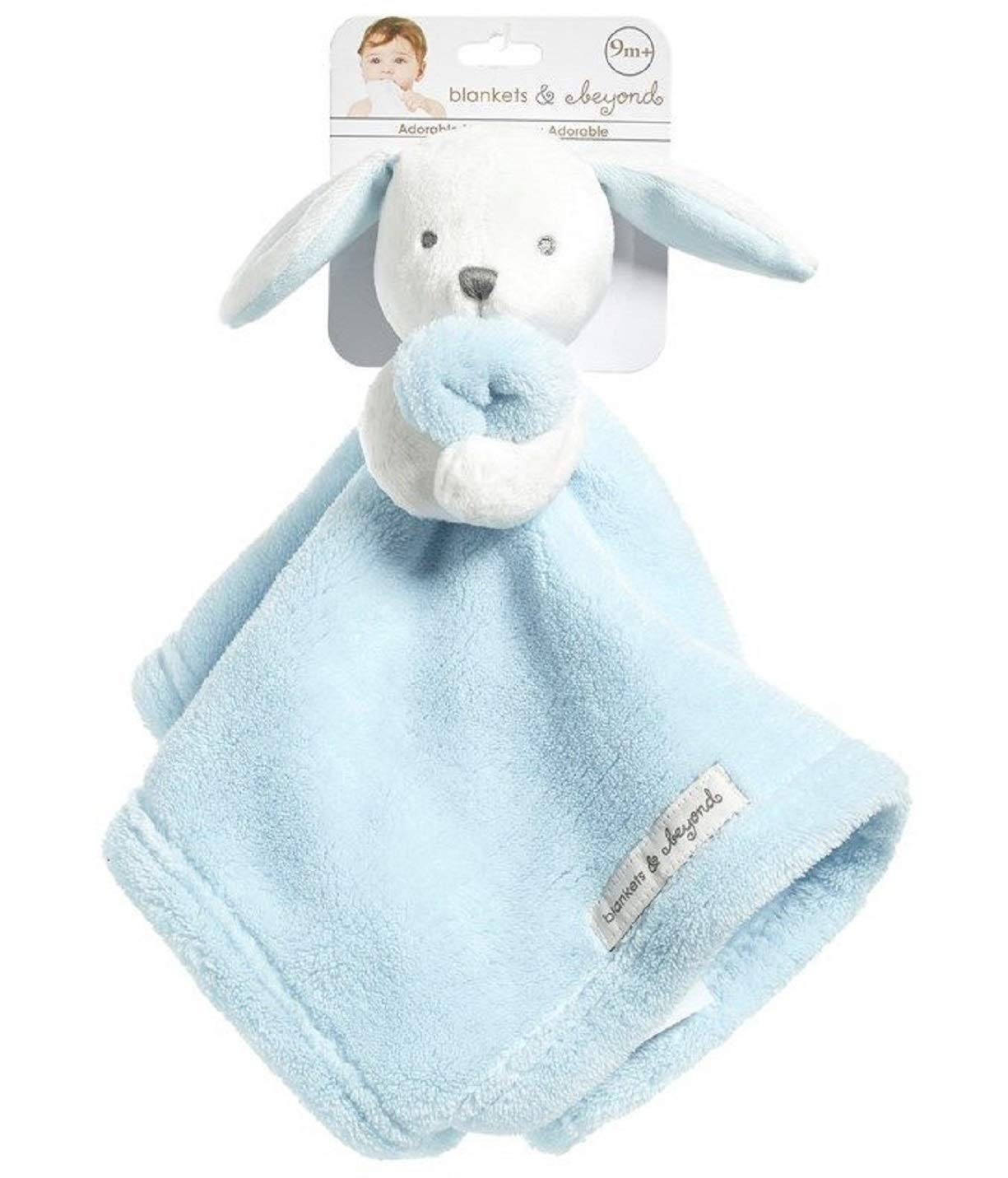 Blankets and Beyond Blue & White Bunny Baby Security Blanket Plush by Blankets and Beyond   B01EEE7WDU