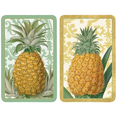 Caspari Royal Pineapple Playing Cards - 2 Decks Included: Toys & Games