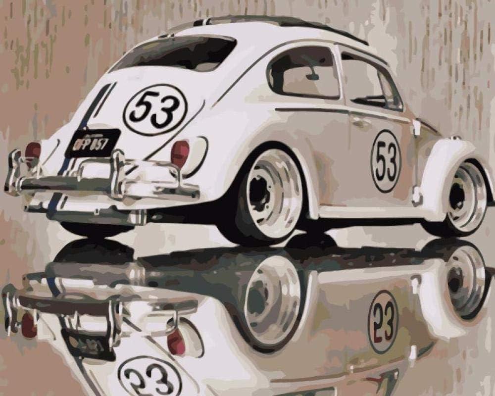 Pintar Por Numeros Autos Clásicos Adultos Niños Para Diy Pintura Por Números Con Pinceles Y Pinturas Decoraciones Para El Hogar Sin Marco De 40X50Cm