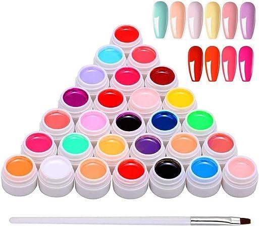Image ofAnself Gel Nail 30 Colores, Gel de Pintura Semipermanente, Gel UV Set Gel Colores para Uñas, Nail Art Color Gel Set, Gel Nail Colores, Pintura Gel Nail Gel para Nail Art Design