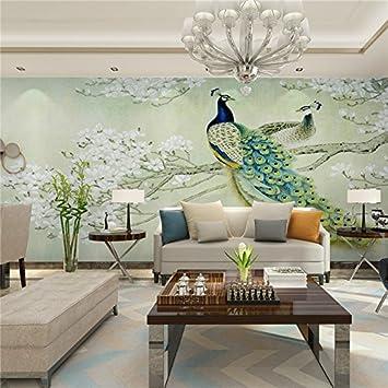 Gut 300x250cm Moderne Kunst Malerei Chinesische Wohnzimmer Schlafzimmer  TV Kulisse Vogel Pfau Magnolia Großes Wandbild Tapeten
