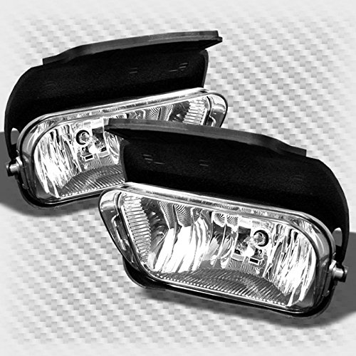 2003-2006 Chevy Silverado 2004-2006 Avalanches Replace Bumper Fog Lights Lamp+Bulbs 2004 2005 Pair Left+Right ()