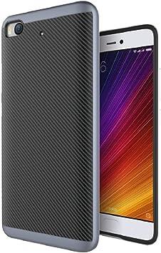 Baanuse Xiaomi Mi5S Funda,Xiaomi 5S Funda [Alta calidad] [Suave Durable TPU + PC de doble capa] [Carbono Fibra Texturizado] [Shockproof Armor] Carcasa para Xiaomi Mi5S: Amazon.es: Electrónica
