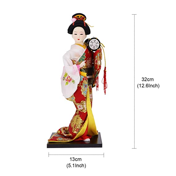Handmade Traditional Chinese Doll Including Black Wood Stand---14 inch