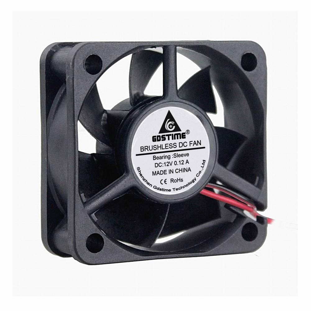 GDSTIME 50mm X 50mm X 20mm 5cm 2 Inch 12v Brushless Dc Cooling Cooler Fan