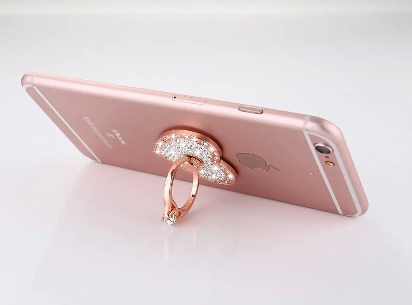 Universal Phone Ring Bracket holder ,UCLL Love Heart Diamond Shape Finger Grip Stand Holder Ring Car Mount Phone Ring Grip Smartphone Ring stent Tablet Rose Gold by UCLL (Image #6)