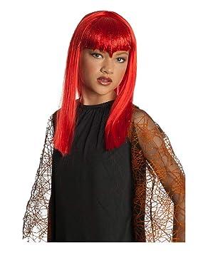 Horror-Shop Vampire Glitter niños peluca roja