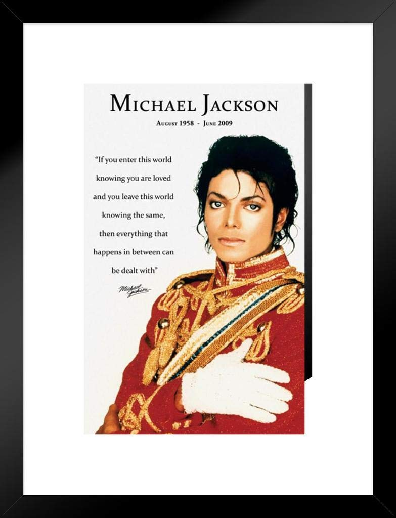Amazon com: Pyramid America Michael Jackson Loved Quote