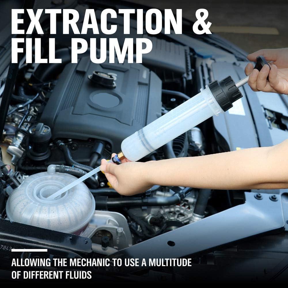 Pompe /à Seringue Fluide Aspiration Manuelle Vide Transfert de Carburant de Voiture Tiamu 1 Pcs 200Cc Extracteur de Fluide