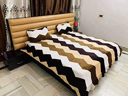 Magnetic Shadow Woolen Velvet Bedsheet with 2 Pillow Covers (230 x 250 cms) (Multicolour)
