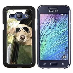 Eason Shop / Premium SLIM PC / Aliminium Casa Carcasa Funda Case Bandera Cover - Piloto Sunglasses ventana de coche del viento - For Samsung Galaxy J1 J100