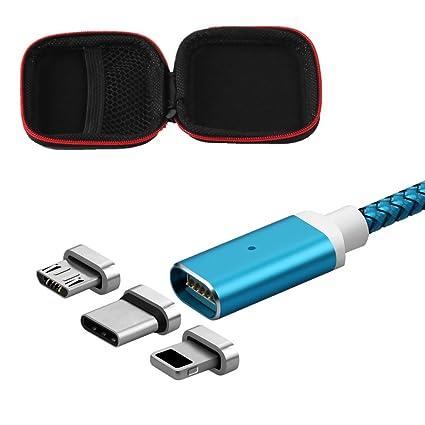 Amazon.com: 3 en 1 USB Cable de carga de imán cuerda con ...
