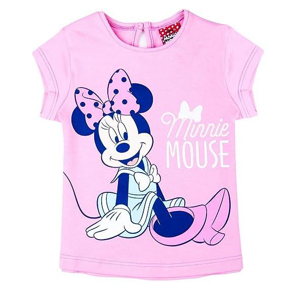 Disney M/ädchen Minnie Mouse Shirt Hellgrau Meliert