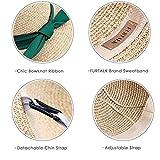 FURTALK Women Sun Straw Hat Wide Brim UPF 50+ Beach Hats for Women Summer Bucket Hat Foldable