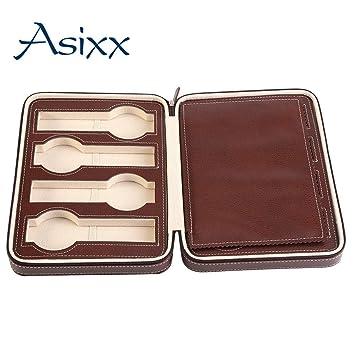 Asixx Caja para Relojes, Estuche de Relojes, con 8 Compartimentos, para Guardar Relojes En El Hogar, Viajes, Negocios, Etc(Café): Amazon.es: Hogar