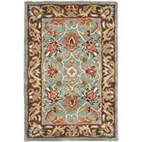 Safavieh Heritage Collection HG812B Handcrafted Traditional Oriental Blue Brown Wool Area Rug (2 x 3)