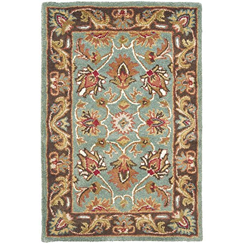 Safavieh Heritage Collection HG812B Handcrafted Traditional Oriental Blue and Brown Wool Area Rug (2' x 3')