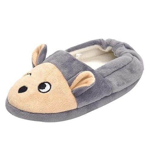 Bambino Animali del Fumetto Interno Casa Tenere Caldo Pantofole di Cotone  Scarpe per Neonato-Pantofole abad43764db