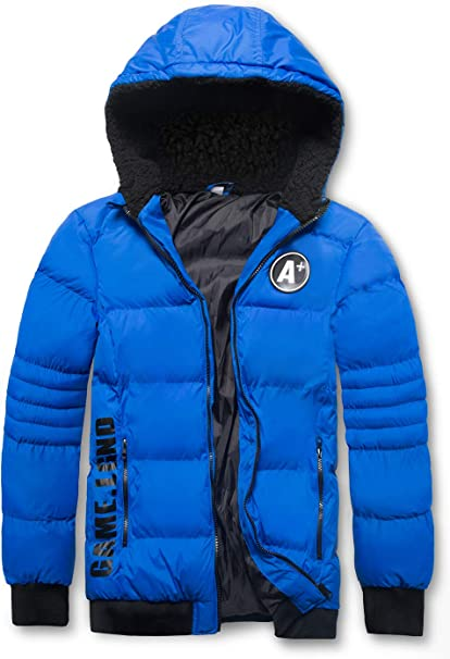 MADHERO Boys Hooded Puffer Jacket Water-Resistant Winter Insulated Outerwear Coat