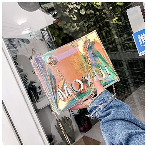 GZHGF De Las Transparente Cadena Colorful Tarde Bolso Muchachas Cruzados De del Mujeres PVC Bolsos De Bolso La Impermeable Manera Colorful del del Holograma Bolso La De La Las Hombro De pqSWprcB